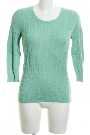 H&M Cable Sweater turquoise casual look