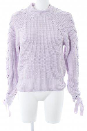 H&M Cable Sweater purple cable stitch casual look