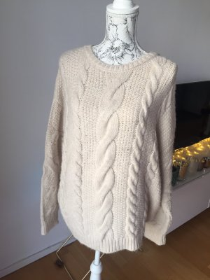 H&M Cable Sweater natural white-oatmeal