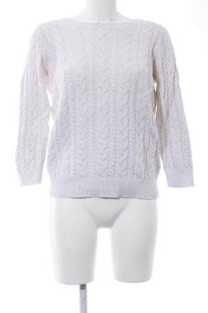 H&M Pull torsadé blanc torsades style décontracté