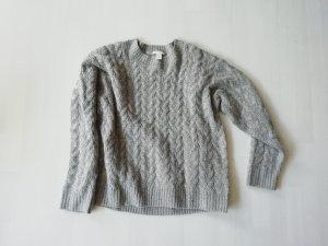 H&M Pull torsadé gris clair