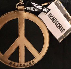 H&Moschino Leder Portemonnaie Gold schwarz