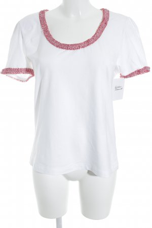 H.Moser T-Shirt weiß-rot Casual-Look