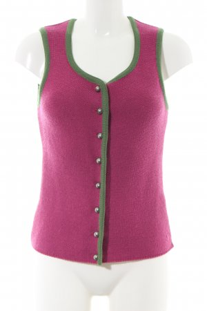 H.Moser Traditional Vest pink-green casual look