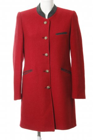 H.Moser Wool Coat red casual look