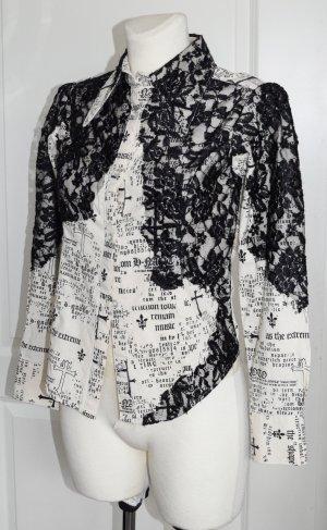 H.Naoto Visual Key Bluse, mit Spitze, Gr. S