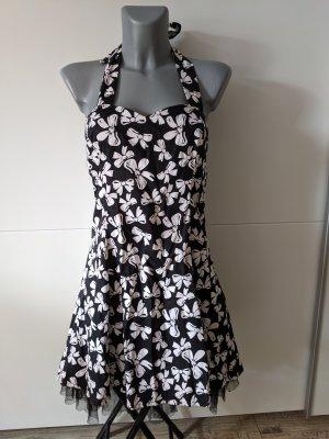 H&R Kleid Rockabilly retro vintage 50er Jahre Stil A-Linie schleifen neckholder