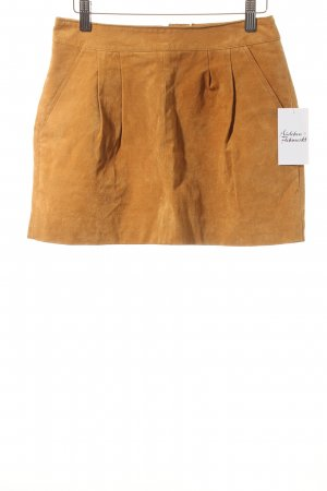 H81 Leather Skirt camel