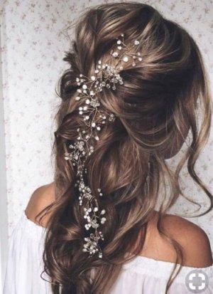 Haaraccesoire mit Perlen und kleine Steine