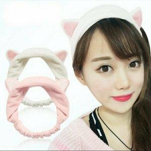 Chapeau blanc-rose clair