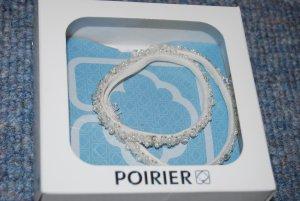 Haarband / Bandana von Poirier Brautschmuck in ivory mit schönen Schmucksteinen