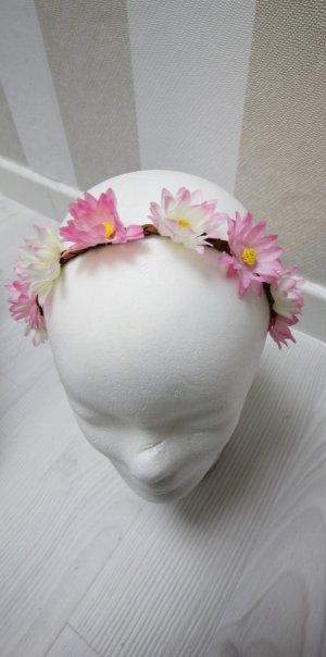 Nastro per capelli bianco-rosa