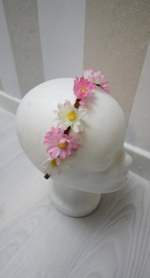 Haarband wit-roze