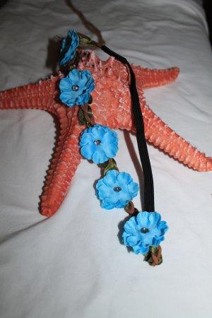 Haarband neon blauw