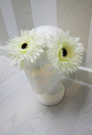 Haarband wit-lichtgeel