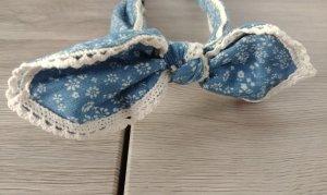 Nastro per capelli beige chiaro-blu fiordaliso