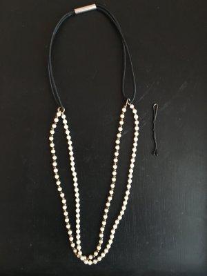 Haarband Perlen Zierperlen Kopfband Haarreif feminin romantisch edel Silvester Hochzeit Ball Gala Weihnachten Festival Brautjungfer Trauzeugin Braut