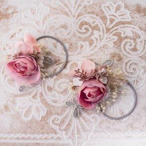 Ribbon light pink-white