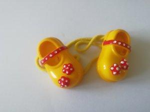 Haargummi Schuh gelb rot witzig Accessoires
