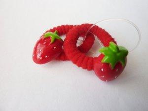 Haargummi Set Erdbeeren rot