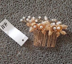H&M Accessorio per capelli oro-bianco sporco