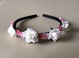 Velo blanco puro-rosa Material sintético