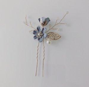 Hair Pin gold-colored-azure