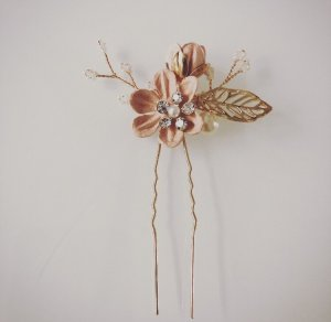 Hair Pin gold-colored-pink