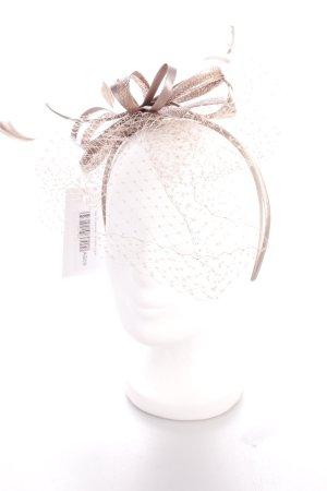 Haarreif graubraun Schleifen-Detail