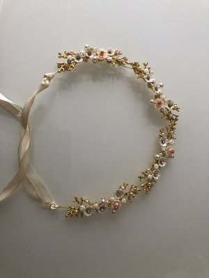 Hair Circlet gold-colored-white