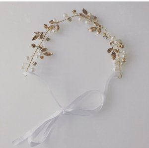 Headdress gold-colored-white