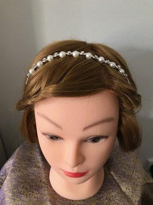 Haarreif Haarschmuck Perlen Hochzeit Brautjungfer Diadem
