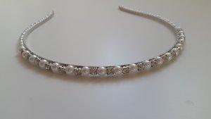 Haarreif mit Perlen und Steinchen Wie Neu