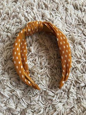 Cerchietto per capelli bianco-arancione