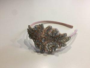 Haarreif Rosé mit vielen funkelnden Steinen