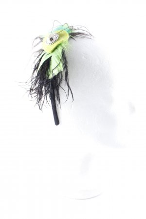 Hair Circlet black-neon green '20s style