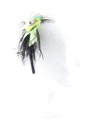 Haarreif schwarz-neongrün 20ies-Stil