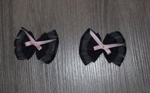Molletta per capelli nero-rosa pallido