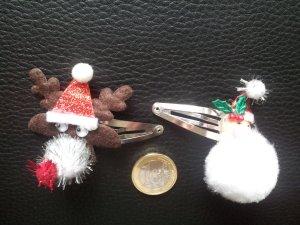 Haarschmuck 2x Haarklemmen Haarspangen Weihnachten