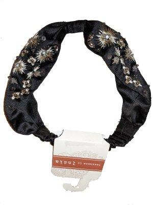 Haarband zwart-zilver