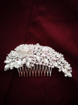 Hair Pin white-silver-colored