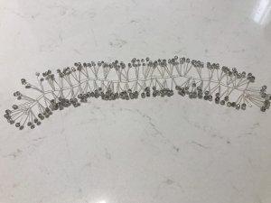 Haarelastiek zilver-lichtgrijs