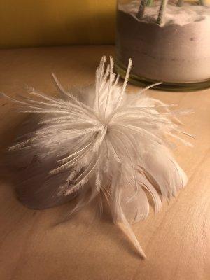 Haarschmuck Federn Weiß Hochzeitsschmuck