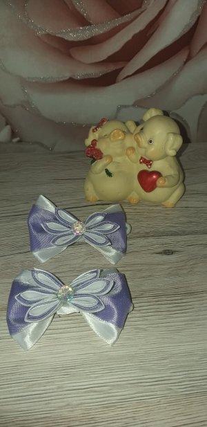 Bid Handmade Nastro per capelli bianco-viola