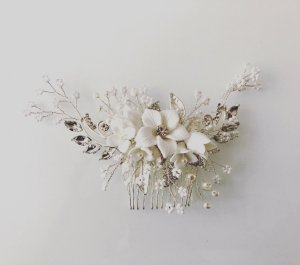 Hair Pin silver-colored-white