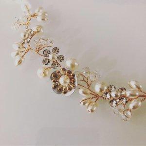 Ribbon gold-colored-white