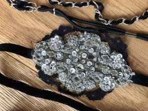 Haarband zwart-goud