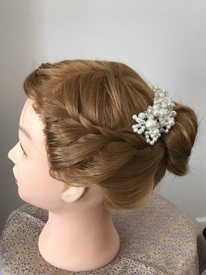 Nastro per capelli bianco-argento