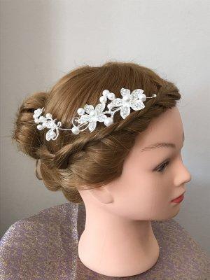 Bijoux pour la tête blanc-argenté