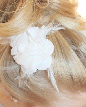 Bijou Brigitte Spilla per capelli bianco